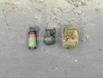 US NSDWG - Multicam Grenade Pouch w/Grenades