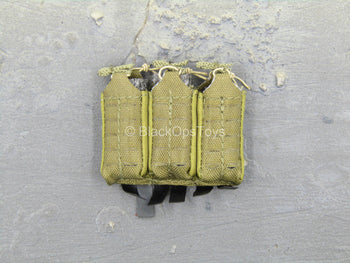S.A.D. Low Profile - Tan MOLLE Triple Cell Magazine Pouch