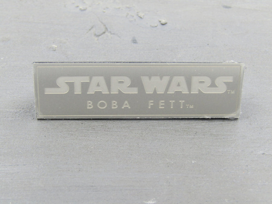 STAR WARS - Boba Fett - Name Plate for Figure Stand