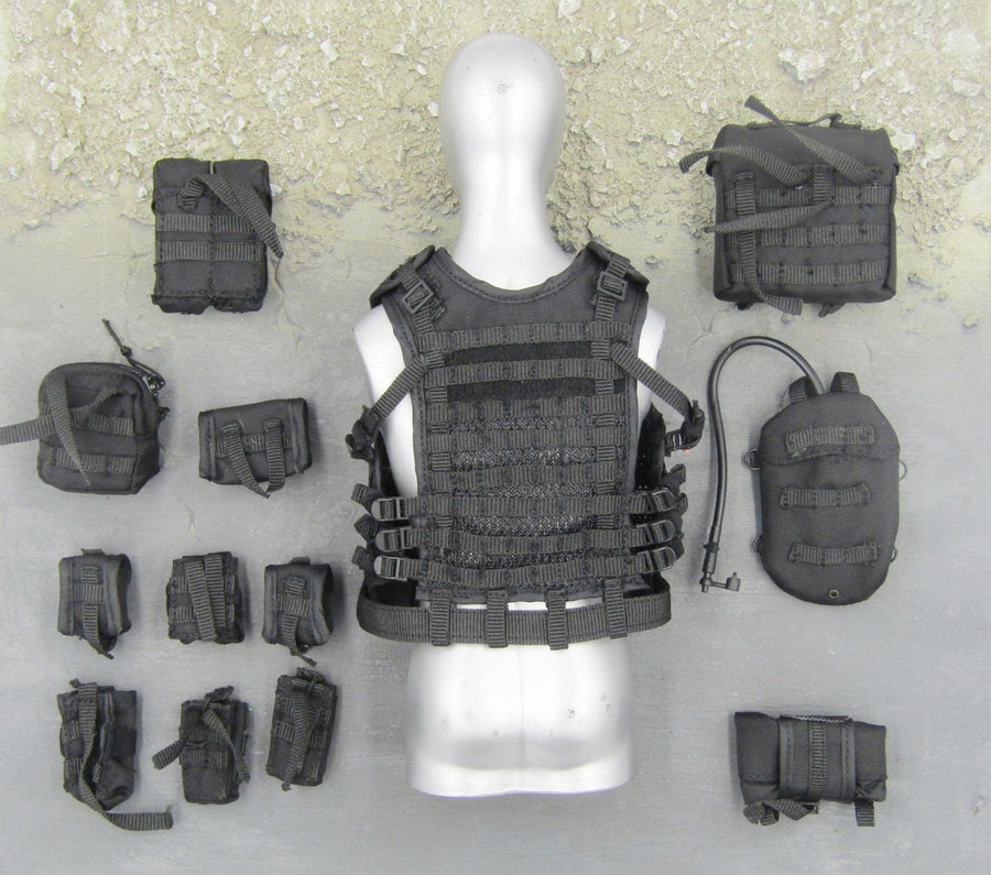 Spetsnaz FSB - Black Tactical Vest & Pouch Set