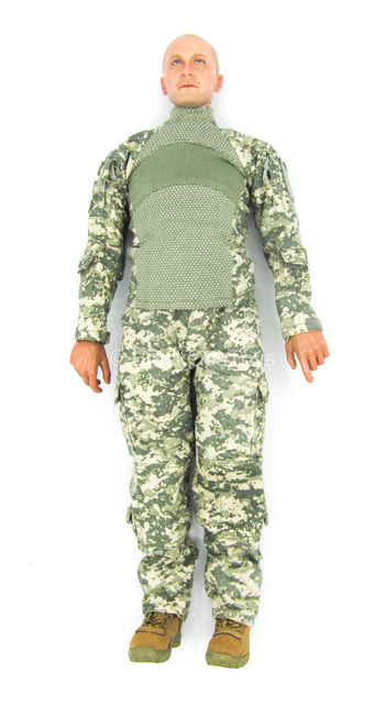 US Army Pilot - Male Base Body w/Head Sculpt & ACU Uniform Set
