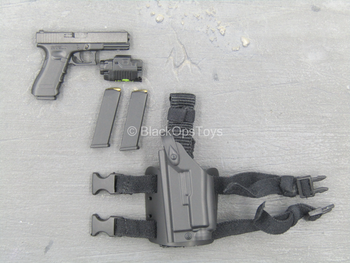 US Army Pilot - Black Pistol w/Drop Leg Holster (Left)