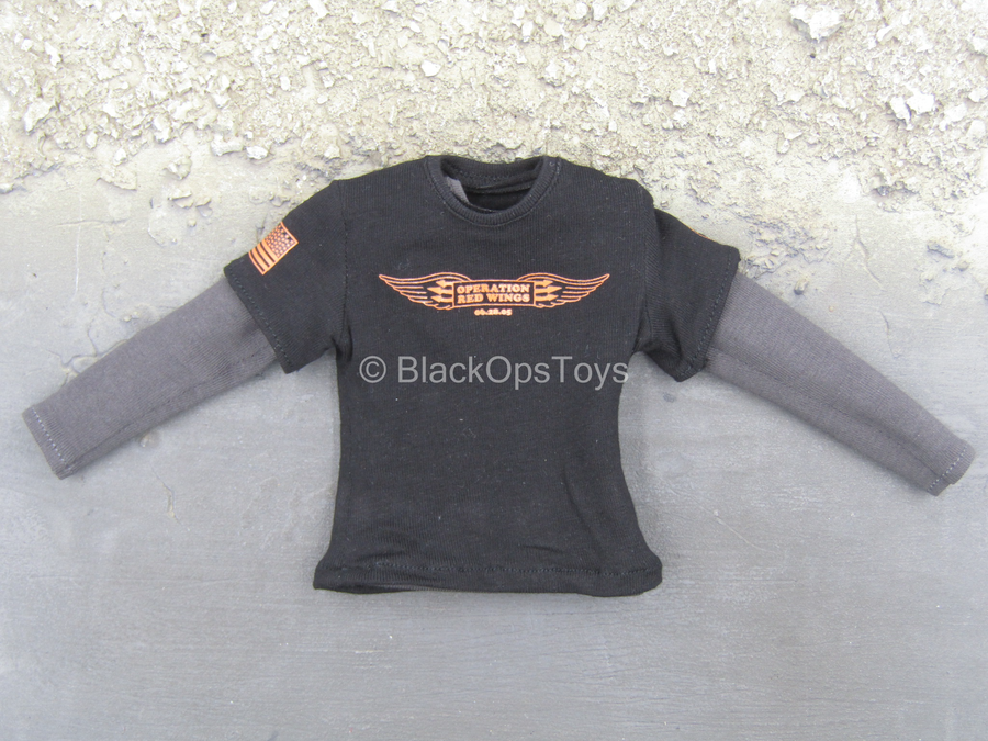 "US NSWDG - Black ""Operation Red Wings"" Shirt w/Grey Undershirt"