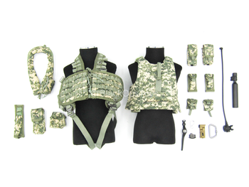 US Army Pilot - ACU Plate Carrier & Combat Vest Set w/Pouches