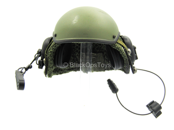US Army Tanker Set - OD Green Tanker Helmet w/Carry Bag