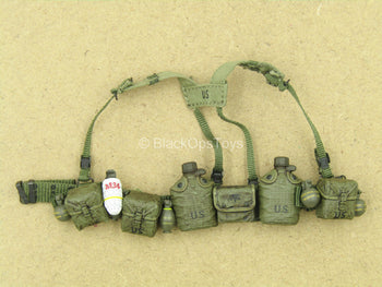1/12 - Marine Force Recon - OD Green Harness w/Molded Pouch Set
