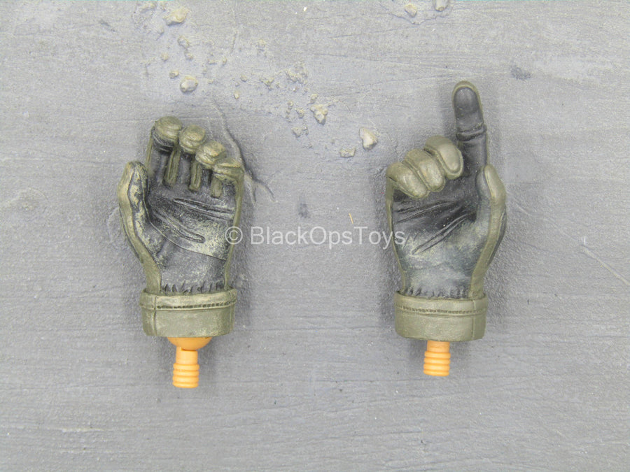 Navy Seal VBSS - OD Green Right Trigger Gloved Hand Set