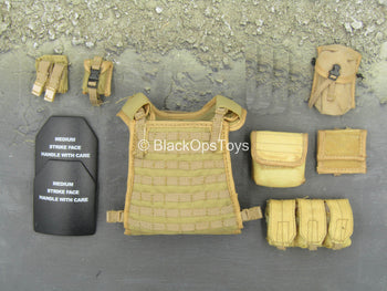 Navy Seal VBSS - FDE Tan Plate Carrier & Pouch Set Type 2