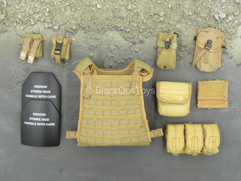 Navy Seal VBSS - FDE Tan Plate Carrier & Pouch Set