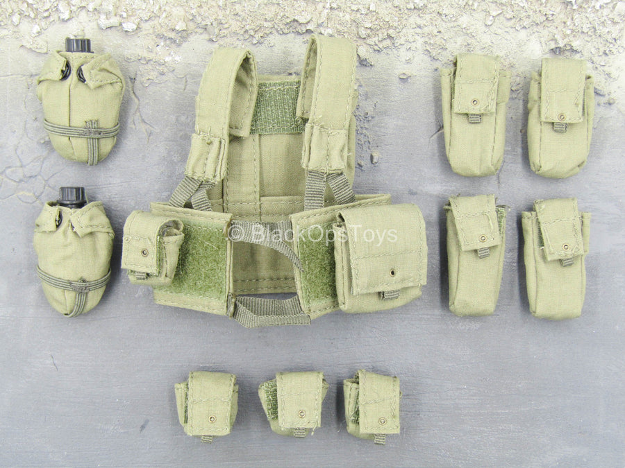 IDF Paratrooper - OD Green Chest Rig w/Pouches Set