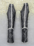GHOST RIDER - Black Leather Like Leg Chaps