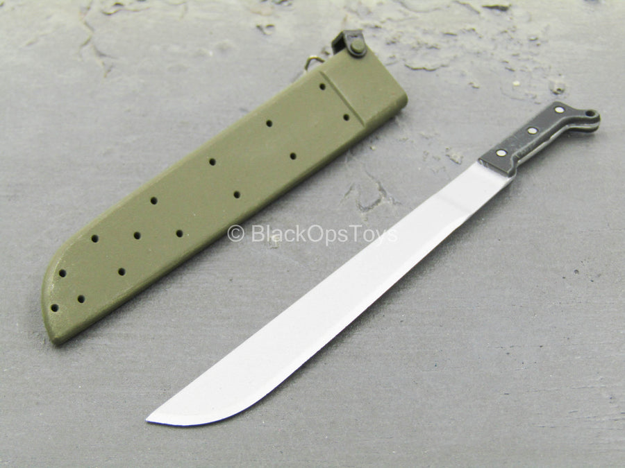 U.S. Navy Seal - Machete w/OD Green Sheath