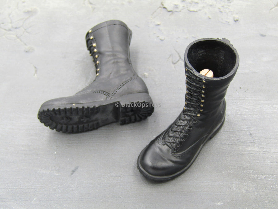 GI JOE - Cobra Sniper -  Black Combat Boots (Peg Type)