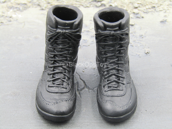 US Secret Service - Black Combat Boots (Peg Type)