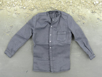 Cowboy Indigo Blue Button Down Long Sleeve Shirt
