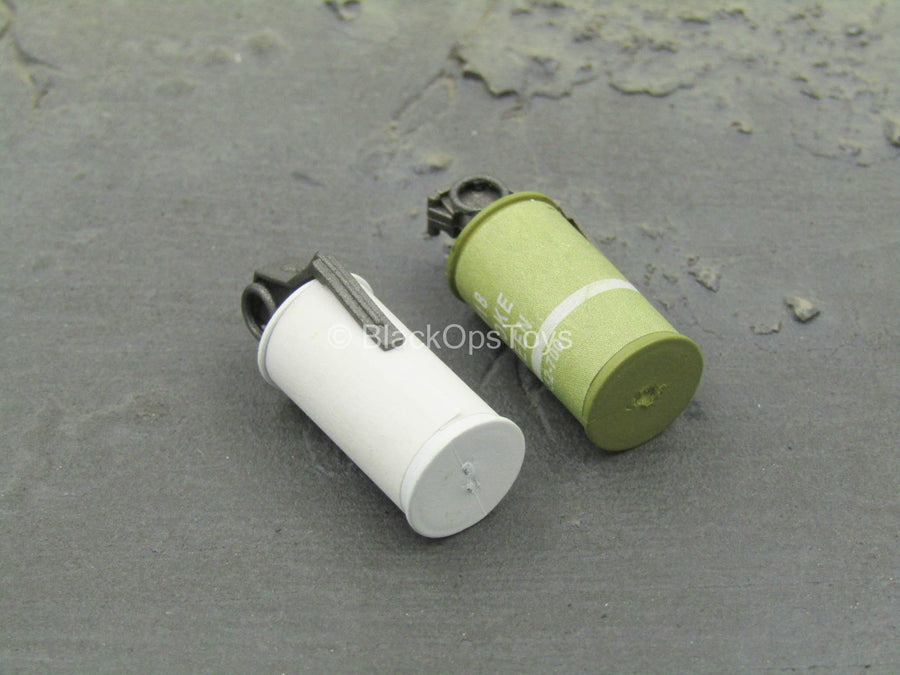 U.S. Navy Seal - White & Green Smoke Grenades