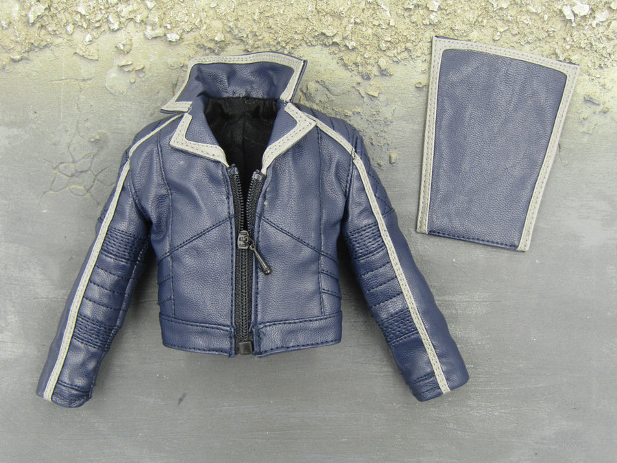 GHOST RIDER - Blue Leather Like Jacket w/Magnetic Front