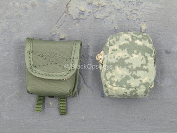 Female Shooter - ACU & OD Green MOLLE Pouches