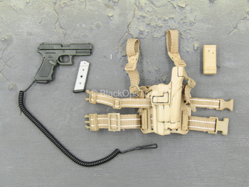 PMC - Operator - Black Pistol w/Tan Drop Leg Holster
