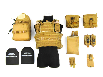 PMC - Operator - Coyote Tan Plate Carrier w/Pouch Set
