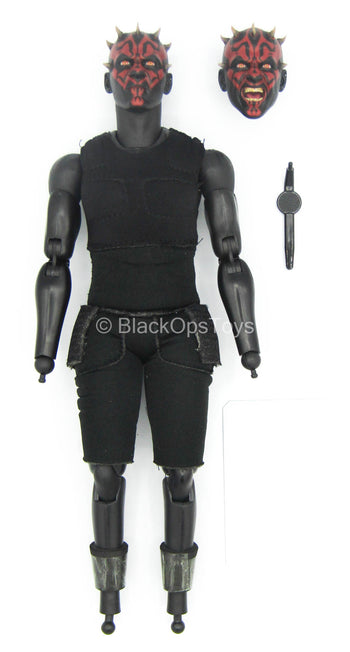 STAR WARS - Darth Maul - Black Male Base Body w/Head Sculpt Set
