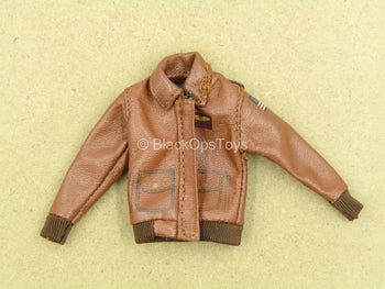 1/12 - Captain Marvel - Brown Leather-Like Jacket