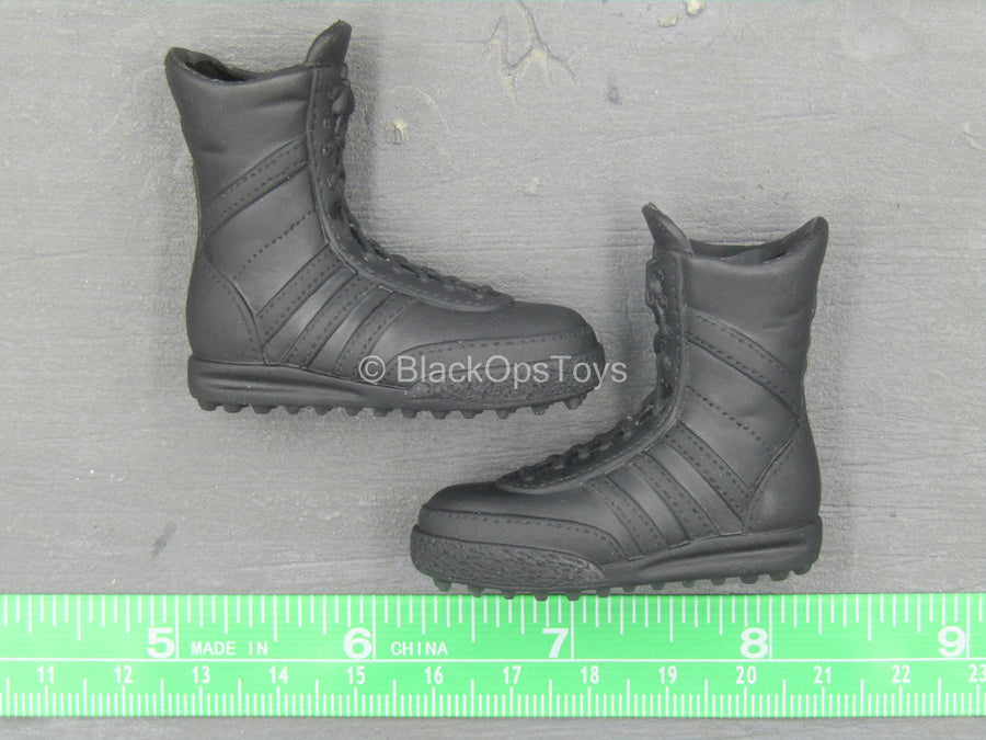 Cleveland PD SWAT Team - Black Combat Boots (Foot Type)