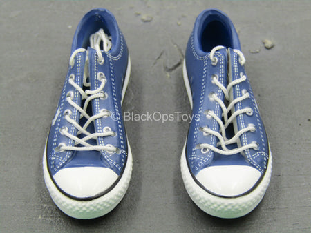 Molded Blue Converse Male Shoes (Foot Type)