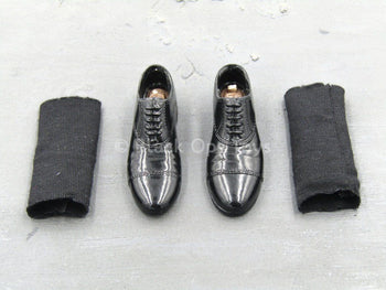 Pulp Fiction - Jules Winnfield - Black Dress Shoes (Peg Type)