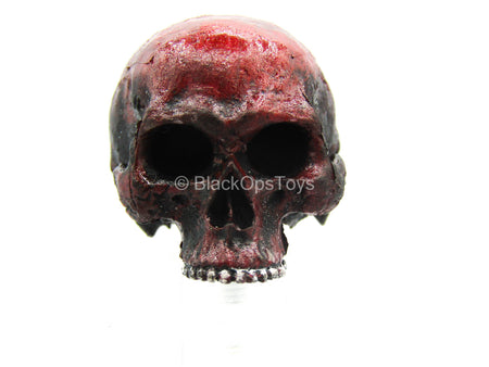 Red & Black Weathered Decorative Skull