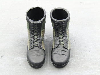 Green Berets - 5th SF Group - Black & Green Boots (Foot Type)