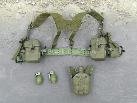 Green Berets - 5th SF Group - OD Green Web Belt w/Pouch Set