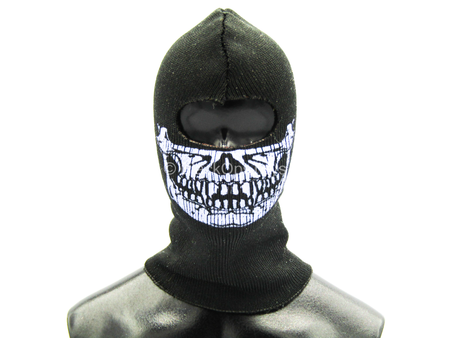 Black Balaclava w/Purple Skull Detail (Type B)