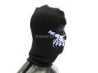 Black Balaclava w/Purple Skull Detail (Type C)