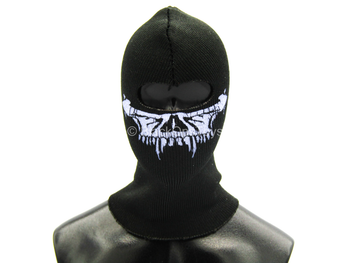Black Balaclava w/Purple Skull Detail (Type E)