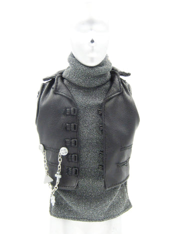 Van Helsing - Half Sweater & Leather LIke Vest