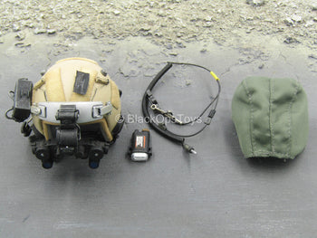 Tan Helmet w/NVG Set & OD Green Helmet Cover