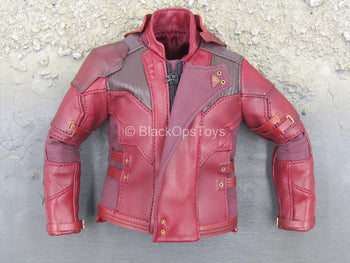 Infinity War - Star Lord - Red Leather Like Ravager Jacket