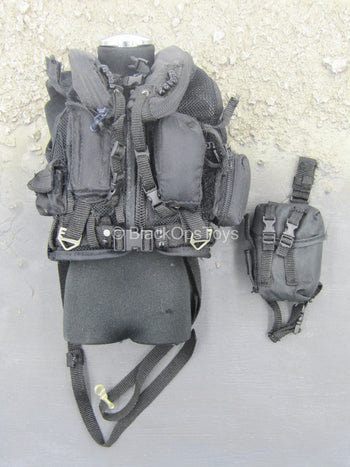 Black SOAR Aircrew Vest w/Drop Leg Pouch