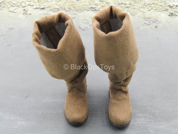 Pirates Of The Caribbean 4 - Brown Boots (Peg Type)