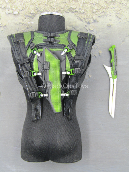 Spiderman 3 - Sword w/Green & Black Back Harness & Holster