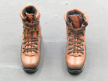 BOOT - Light Brown Combat Boots (Foot Type)