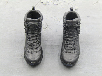 Tony Stark - Black Combat Boots (Peg Type)
