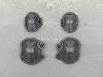 Chinese PLA - Special Forces - Black Knee & Elbow Pad Set