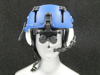 Police Helicopter Pilot - Blue & White Flight Helmet