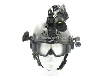Chinese PLA - Special Forces - Black Helmet w/NVG Set