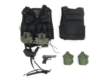 BHD - Task Force Ranger - Black Vest & Plate Carrier Set