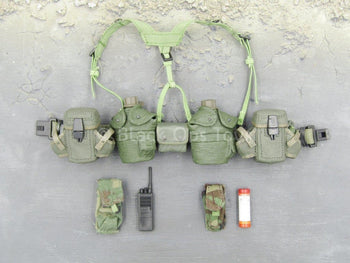 BHD - Task Force Ranger - OD Green Rivet Belt & Pouch Set