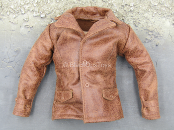 WWII - French Resistance - Brown Leather Like Jacket