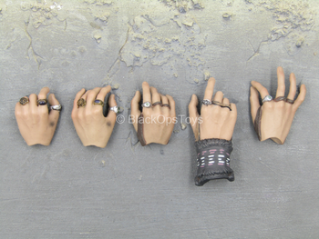 POTC DMC Jack Sparrow - Male Hand Set w/Rings Type 1 (x5)
